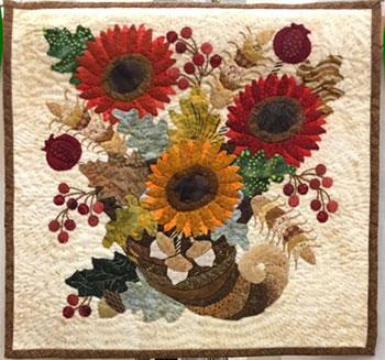 Viewer's Choice Miniature Quilt, Cornucopia, by Brenda Grampsas
